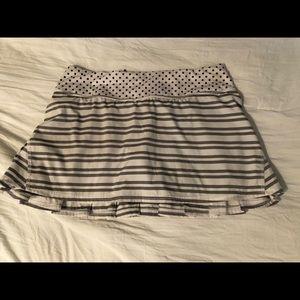 lululemon striped skirt